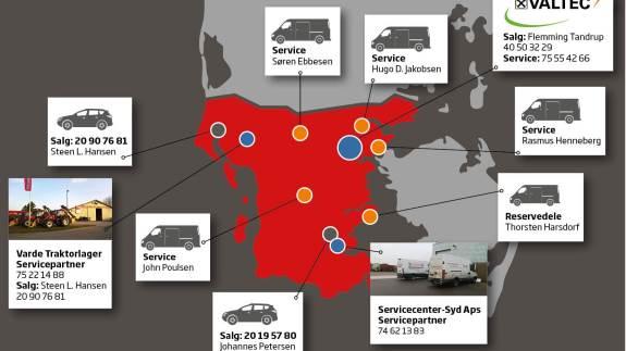 Servicecenter Syd, Rødekro og Valtec ved Gravens vil fremover arbejde sammen om service af Valtra-traktorer. De to firmaer har netop underskrevet en samarbejdsaftale, hvorefter Servicecenter Syd bliver servicepartner for Valtec.