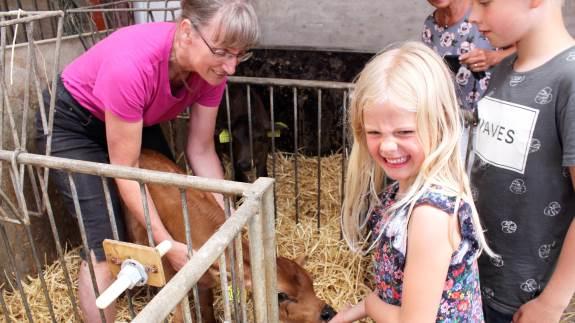 Djurslandgården er i fuld gang med at tage imod sommerens glade gæster. De fleste familier er gengangere, og forleden eftermiddag var det bedsteforældrene, der havde taget ivrige små besøgende med på Ellely ved Glesborg.