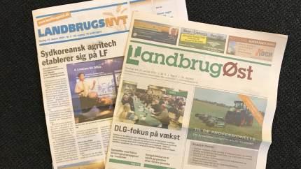 Fra midten af februar fusionerer LandbrugsNyt og LandbrugØst til én avis, hvor LandbrugØst bliver den fortsættende avis.