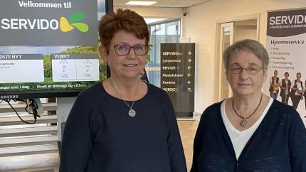Ingelise Hornshøj bliver ny direktør i Servido. Hun danner henover det næste halve år parløb med afgående direktør Inger Jensen.