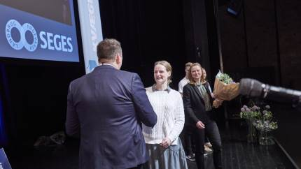 På Kvægkongres 2020 i Herning blev den nye pris, Årets elev i kvægproduktion, uddelt. Vinderen blev den engagerede, ambitiøse og nysgerrige kvægelev, Laura Meier Lassen fra Nordjyllands Landbrugsskole.