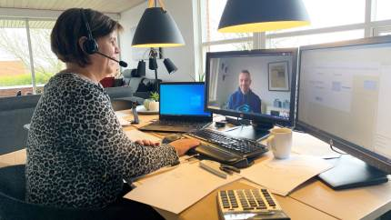 Selvom digitale løsninger uden problemer har holdt rådgivningen i gang hos Agri Nord under corona-krisen, ser medarbejderne frem til at møde kunderne ansigt til ansigt, når sundhedssituationen igen bliver sikker.