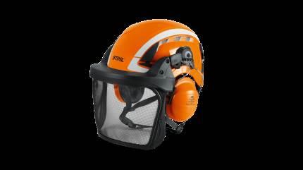 Den nye hjelm, Advance X-Climb, fra STIHL kombinerer et moderne design med sikkerhed og bekvemmelighed. Hjelmen er egnet til såvel arborister, der arbejder i højden, som skovarbejdere, der arbejder nede på jorden.
