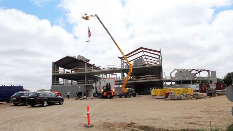 Det nye DLG-hovedkvarter ved Fredericia begynder at tage form. Det skal stå færdigt i 2020. Fotos: John Ankersen