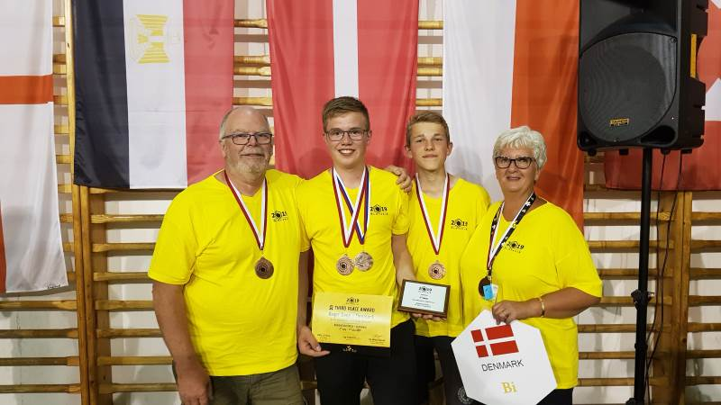 Det var en glad Asger Degn, der fik bronzemedalje ved IMYB i weekenden i Slovakiet.