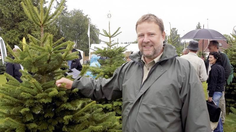 Direktør for Danske Juletræer, Claus Jerram Christensen, glæder sig over, at danske juletræer dyrkes med lille udvaskning af næringsstoffer.