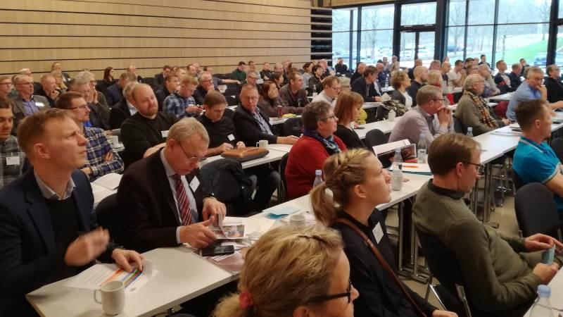 Her ses gårsdagens årsmøde i Landbrug & Fødevarer Fjerkræ, der blev holdt på Vingsted Hotel & Konferencecenter, Bredsten, og var optakt til årets fjerkongres torsdag. Foto: John Ankersen