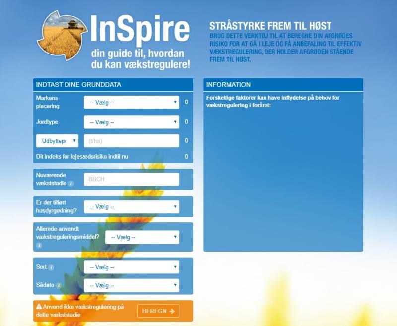 InSpire er et digitalt værktøj, der kan hjælpe dig med at træffe den rigtige beslutning i din hvedemark.