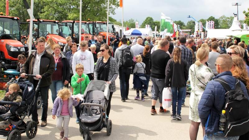 Landboforeningen for Østlige Øer må kalkulere med et tab på fem millioner kroner med aflysningen af årets Roskilde Dyrskue. Billedet er fra sidste års rekordskue, der blev besøgt af over 113.000 gæster.
