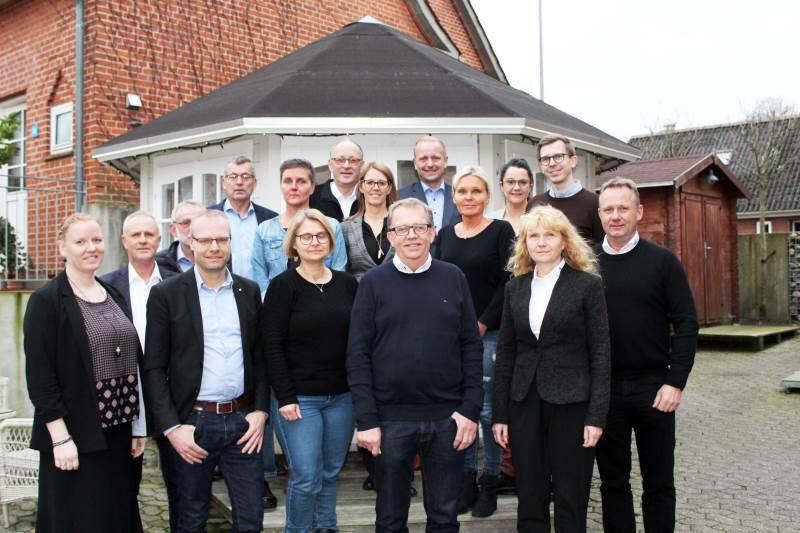 Agriteam dækker seks afdelinger i hele Jylland, ligesom der er afstikkere til Fyn og Sjælland. Her er medarbejdere samlet til salgs- og inspirationsmøde.