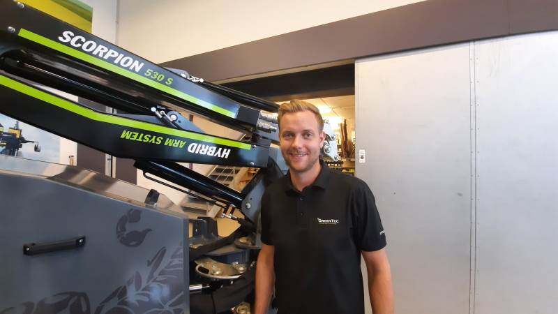 Nicolai Pedersen er salgschef for Danmark hos GreenTec, der har både administration, produktion og produktudvikling i Kolding. Foto: John Ankersen