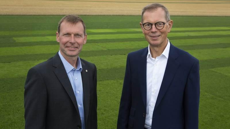 Her ses bestyrelsesformand Christian Høegh-Andersen sammen med adm. direktør Truels Damsgaard.