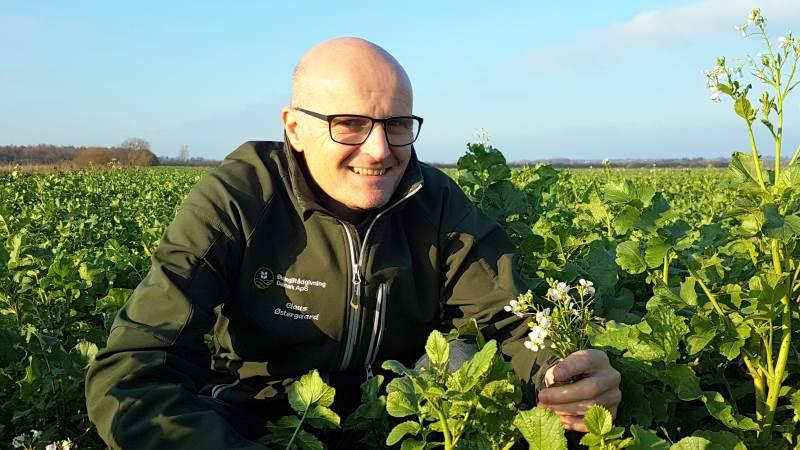 Plantechef Claus Østergaard glæder siger over, at Økologirådgivning Danmark har vundet dysten.
