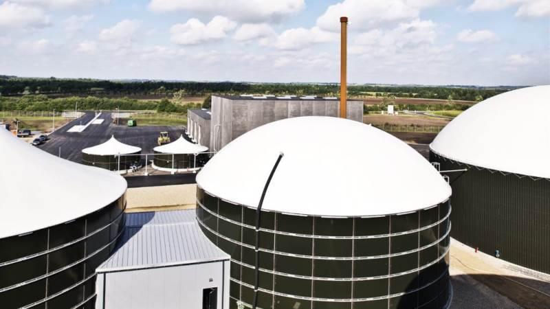 Der er i forvejen en række biogasanlæg i Sønderjylland, her Sønderjysk Biogas. Et mere ved Kværs er for meget af det gode, mener landmand Lars Lenger. Foto: Christer Holte