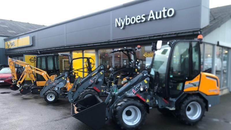 Nyboes Auto i Rønne bliver den 37. danske forhandler af Giant-maskiner fra Brdr. Holst Sørensen.