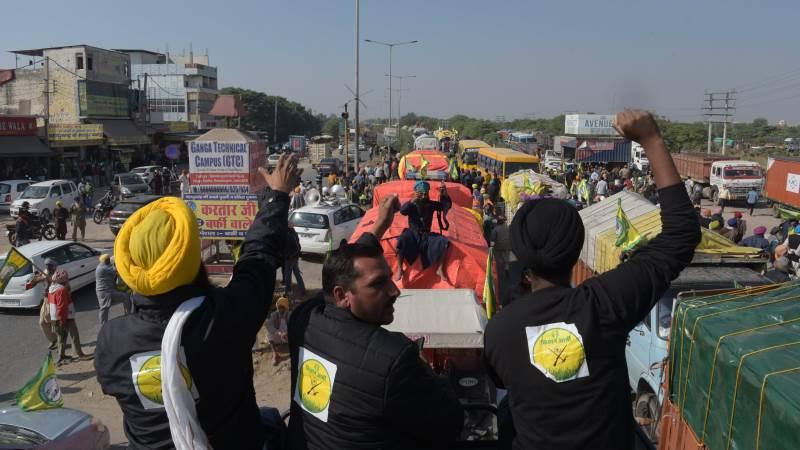Ledere for protesterende indiske landmænd indledte en dags sultestrejke i december mod landbrugsreformer, som de siger truer deres levebrød, og øger presset på premierminister Narendra Modis regering for at trække lovgivningen tilbage. Foto: Randeep Maddoke, CC0, via Wikimedia Commons.