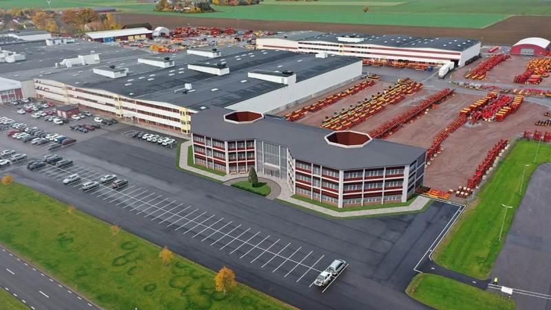 Väderstad er et familiefirma, der fremstiller landbrugsmaskiner inden for såningsteknologi og jordbearbejdning. Virksomheden omsatte for 2,49 milliarder danske kroner i 2020. Foto: Väderstad