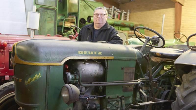 Flemming Christensen har altid været vild med Deutz. Grundvad Maskinhandel har forhandlet den grønne traktor i 60 år og er Danmarks ældste forhandler, ligesom de har Danmarks største reservedelslager til de grønne maskiner.