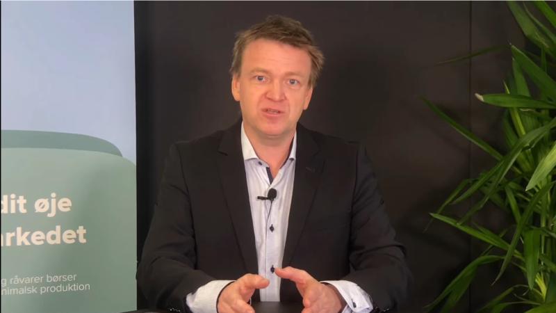 - Der er ikke en kæmpe klump af heltidsbedrifter, der står foran et generationsskifte, siger Jens Schjerning, cheføkonom i Agrocura, i et webinar, som den finansielle rådgivningsvirksomhed afholder for tiden. Skærmdump