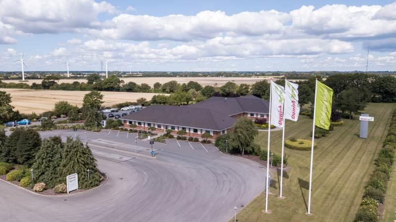 Danish Agros hovedkontor er beliggende i Karise på Stevns. Foto: Danish Agro