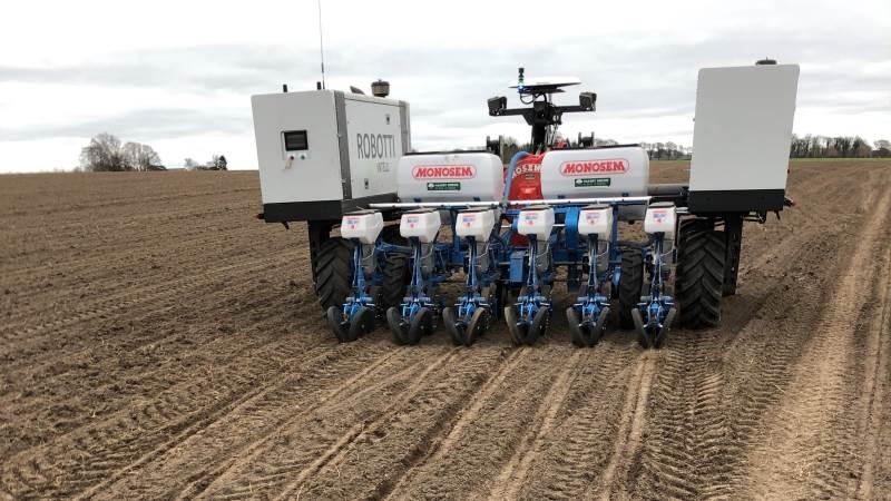 Blandt de sjællandske planteavlere er der stor interesse efter at få robot-sået spinat, sukkerroer, frø og andre rækkeafgrøder. Foto: Jørgen P. Jensen
