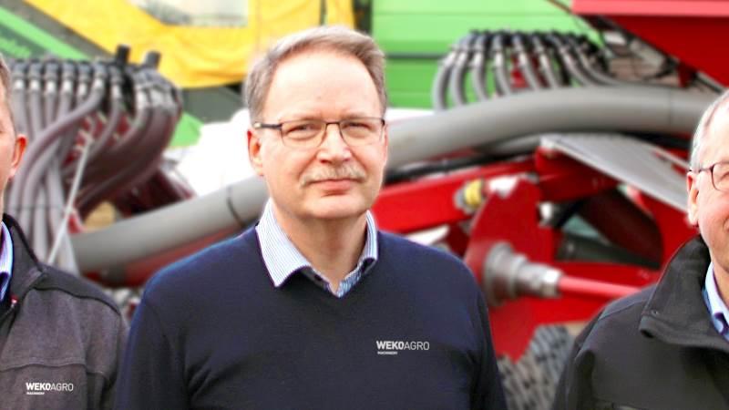 Tom Myrdal, adm. direktør for WekoAgro Machinery glæder sig over det flotte resultat og ikke mindst indsatsen fra medarbejderne.