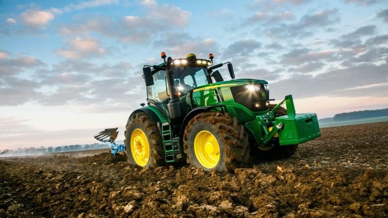 John Deere har suverænt sat sig på det danske traktormarked med 110 solgte traktorenheder i første kvartal. Arkivfoto