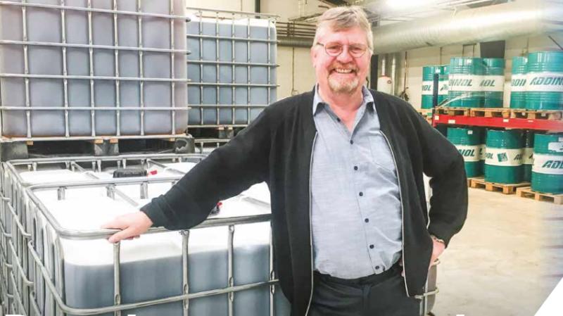 Svend Eskildsen er medindehaver og adm. direktør i Addinol Danmark ApS, der tilbyder tyske kvalitetssmøremidler – blandt andet til landbruget.