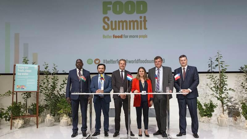 Sådan så det ud, da der sidst var World Food Summit i 2019. 2020-udgaven var grundet Covid-19-pandemiens tidlige indtog aflyst. I år foregår det online. Foto: Fødevareministeriet