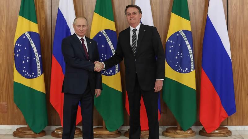 Præsidenterne Vladimir Putin og Jair Bolsonaro har drøftet muligheden for at Rusland åbner yderligere op for import af kød fra det sydamerikanske land. Arkivfoto: Marcos Corrêa/PR.