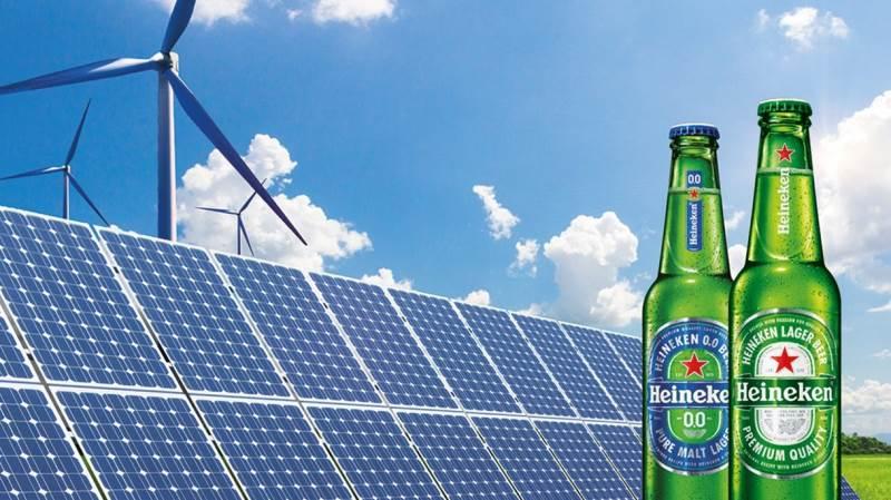 Med sin meget ambitiøse målsætningsplan, »Brew a Better World«, satser det store hollandske bryggeri at være kulstofneutral inden år 2030. Foto: Heineken