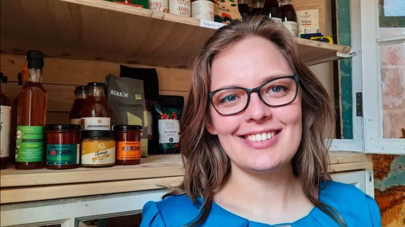 29-årige Solveig Felbo er leder, direktør og co-founder af den digitale markedsplatform Råhandel, der gør det nemmere for små fødevareproducenter at sælge til interesserede grossister. Foto: Victor Juul Grønbæk