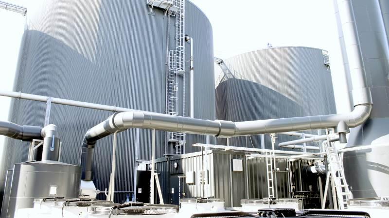 Nature Energy er kommet i modvind med sit kommende biogasanlæg ved Kværs i Sønderjylland. Fotoet hér er fra selskabets store biogasanlæg ved Holsted, der blev bygget og har været i drift i flere år. Arkivfoto