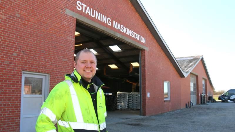 Kenneth Astrup – medejer af Stauning Entreprenør & Maskinstation med 18 Komatsu'er i maskinflåden.