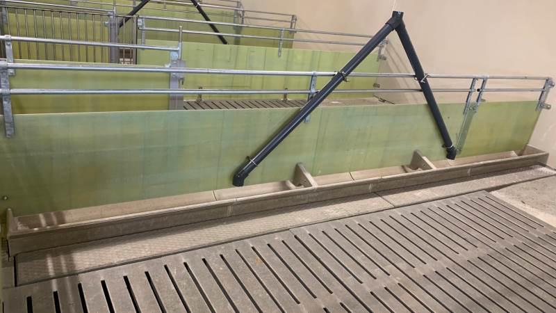 Det er disse krybbeelementer med påmonteret polymerkrybber med vægstøtter, der er en af frugterne af de to virksomheders samarbejde. Foto: IBF Sunds Agro