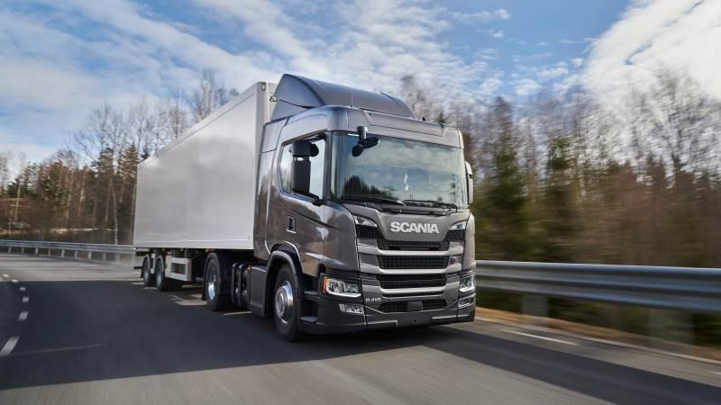De er Scania, der står for at levere de nye biogaslastbiler til blandt andet HV Transport. Foto: Scania