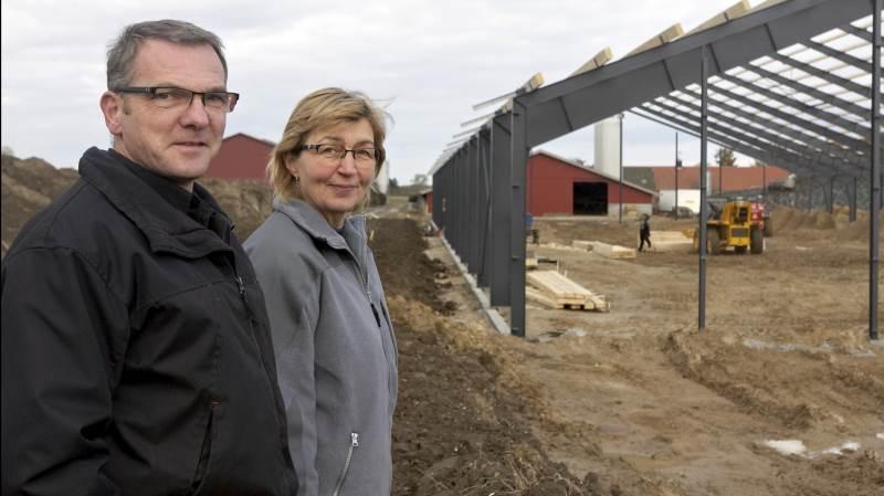 Carsten Hedegaard, bestyrelsesmedlem, L&F Centrovice, ses her sammen med Gitte Hedegaard. Foto: Erik Hansen