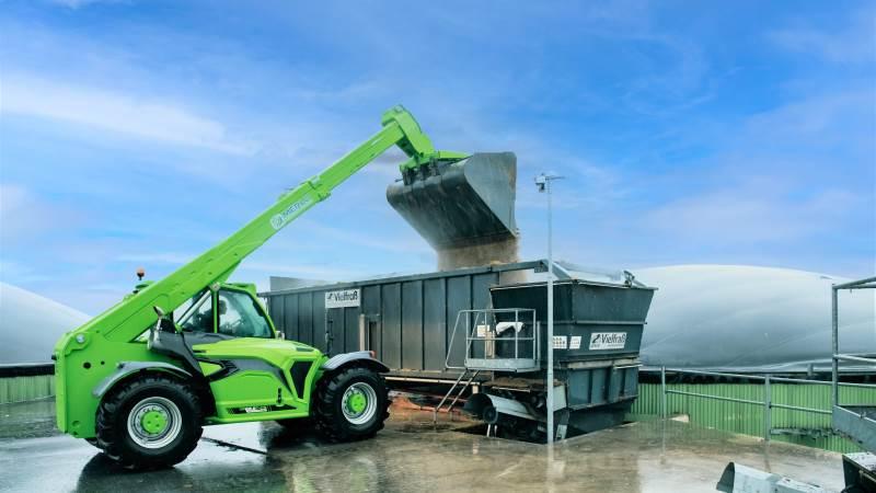 Merlo TF65.9 er velegnet til brug ved blandt andet biogasanlæg.