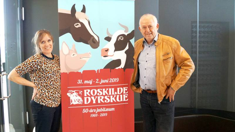 Charlotte Frimer Petersen og Povl Fritzner har kørt et tæt parløb i mange år - her op til Roskilde Dyrskues 50-års jubilæum i 2019, der samlede over 113.000 besøgende.