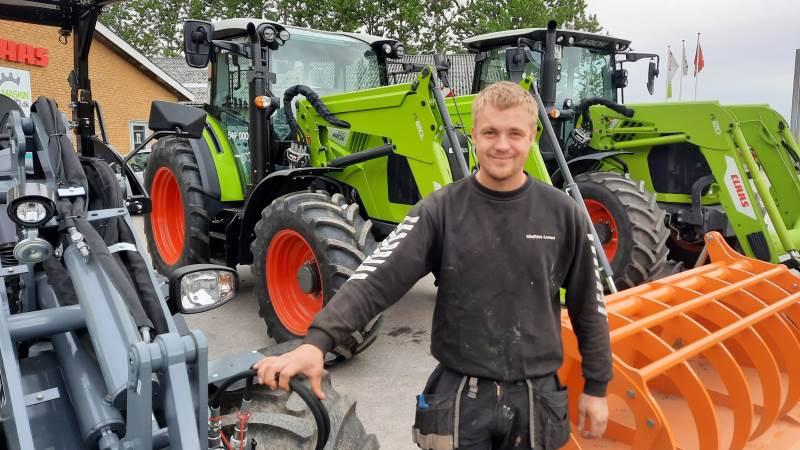 Mathias Larsen, Maskinland A/S, har netop skudt Loader Tour i gang, hvor der over 100 steder kan opleves læssemaskiner fra maskinforretningen - både ude hos landmændene og hos maskinforretningen selv. Foto: John Ankersen
