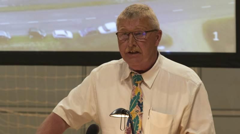 Formanden Hans Gæmelke havde blandt andet fokus på kvælstof, da Djursland Landboforening afholdt generalforsamling. Fotos: Tenna Bang