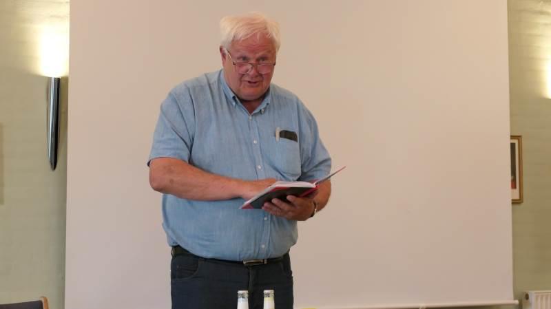 Formand for Agerskovgruppen, Jens Peter Aggesen, aflagde under generalforsamlingen sin beretning for Agerskovgruppens arbejde i 2020. - Vi stopper ikke, der er stadig meget at tage fat på, lovede han om foreningens fortsatte arbejde.