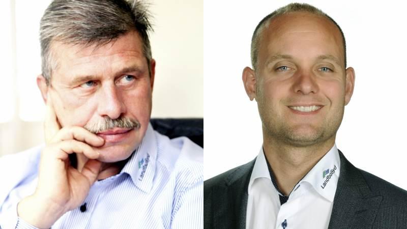 Mogens Dall (tv) og Henrik Jessen kæmper tirsdag aften om at blive formand i LandboSyd ved et kampvalg.