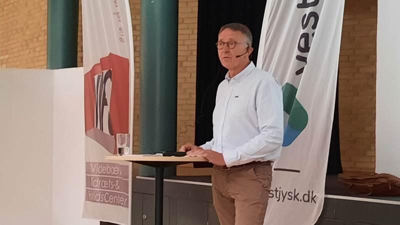 Formand for Vestjysk Landboforening, Søren Christensen, langede ud efter politikerne i forbindelse med landbrugsudspil, klima og kvælstof. Foto: John Ankersen
