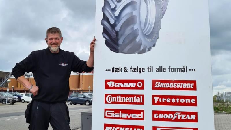 Jesper Christensens nyetablerede dækcenter i Hobro bliver servicepartner for Ovethi. Fotos: Dansk Dæk Service