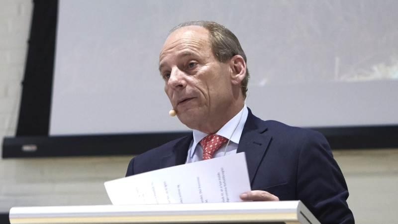 Peter Cederfeld de Simonsen, der driver Brahesborg Gods ved Assens, har lige siden 1997 siddet som formand for Patriotisk Selskab. Men næste år er det slut, oplyste han på generalforsamlingen i aftes. Foto: Erik Hansen