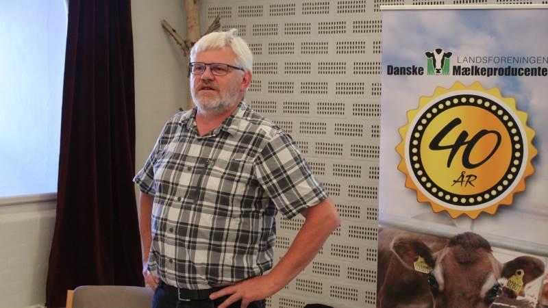 Formand i Landsforeningen af Danske Mælkeproducenter (LDM), Kjartan Poulsen, ser mange faktorer der gør det dyrere at være mælkeproducent. Foto: John Ankersen
