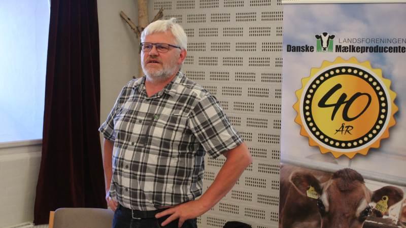 Formand i Landsforeningen af Danske Mælkeproducenter, LDM, Kjartan Poulsen, ser mange forhold, der gør det dyrere for mælkeproducenterne. Foto: John Ankersen