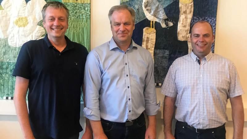 Bestyrelsen i Fjordland har konstitueret sig. Formand er Leif Gravesen, Thisted, 1. næstformand er (tv) Morten Agger, Lemvig, og 2. næstformand er (th) Lars Kristensen, Skive.