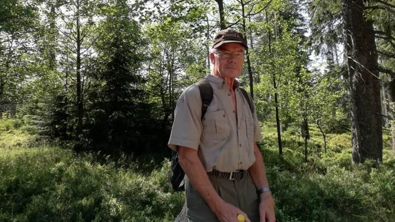 75-årige Viggo Bjerrum Andersen fra Tønder, nyder naturen i fulde drag.